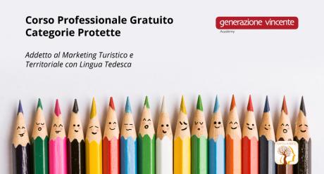 Corso Professionale Gratuito – Categorie Protette Addetto al Marketing Turistico e Territoriale con Lingua Tedesca