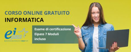 Corso di informatica online con esame eipass incluso