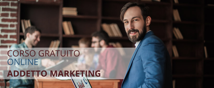 Corso gratuito online addetto al marketing